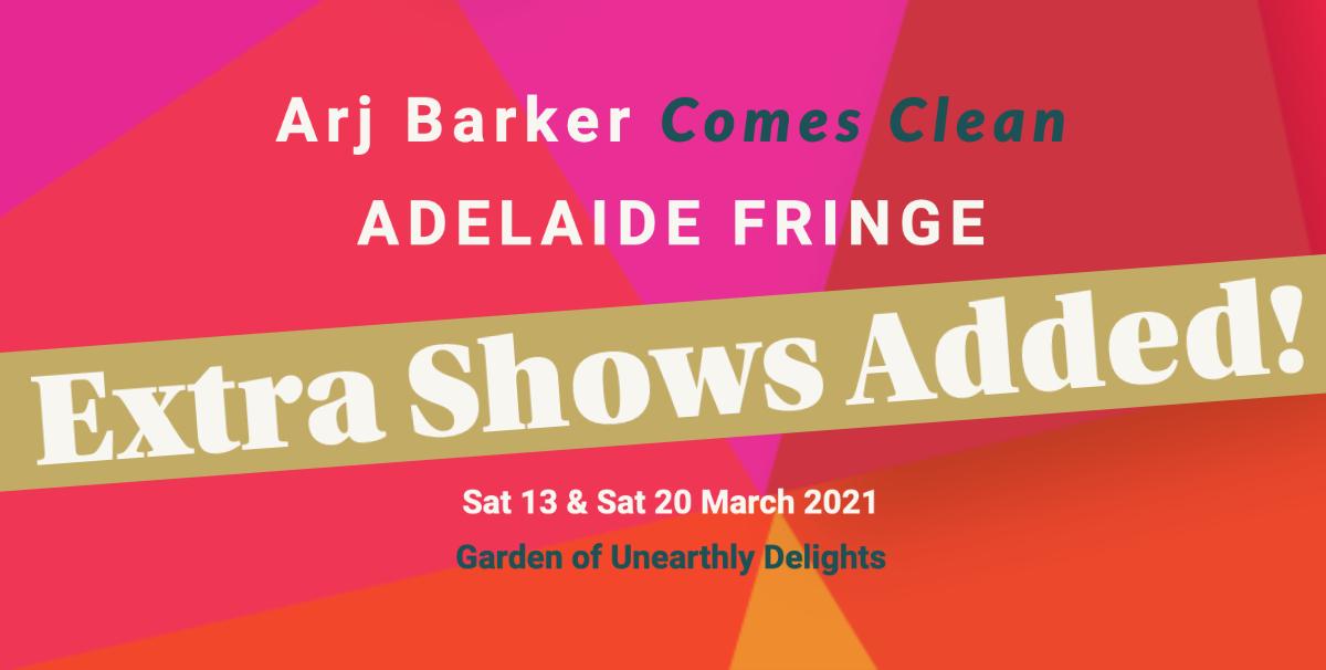 Arj Barker Adelaide Fringe Sliding Banner Mary Tobin Presents