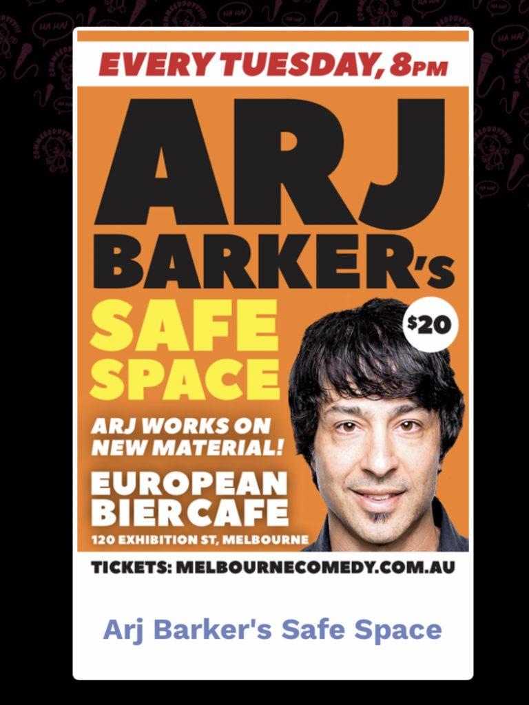 Arj Barkers Safe Space Melbourne